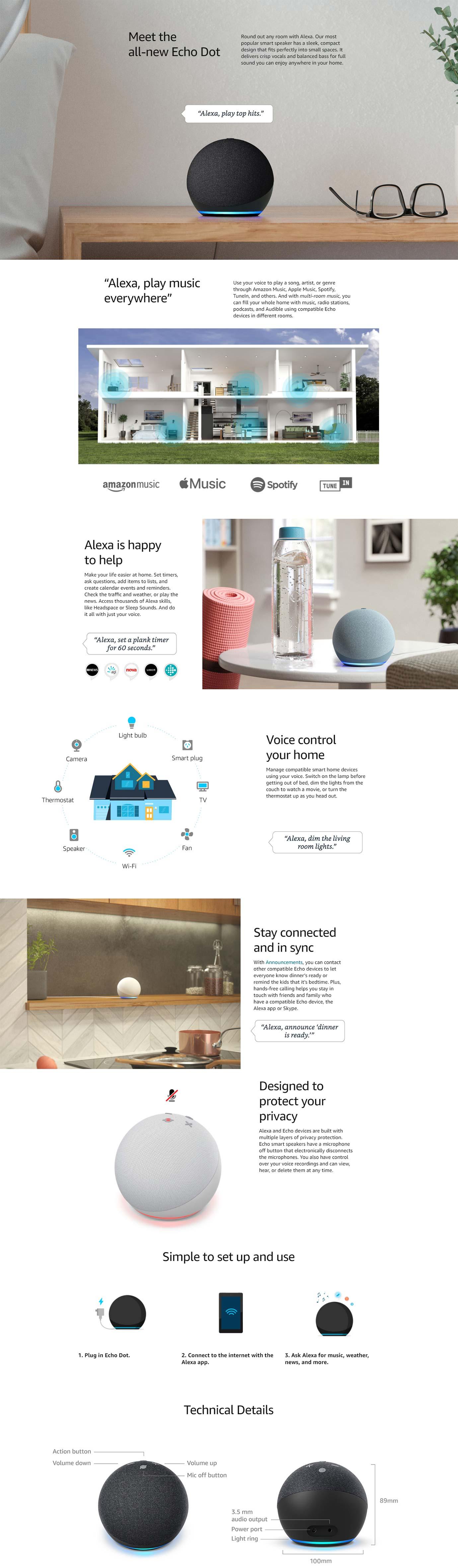 Amazon Echo Dot with Alexa (Gen 4)