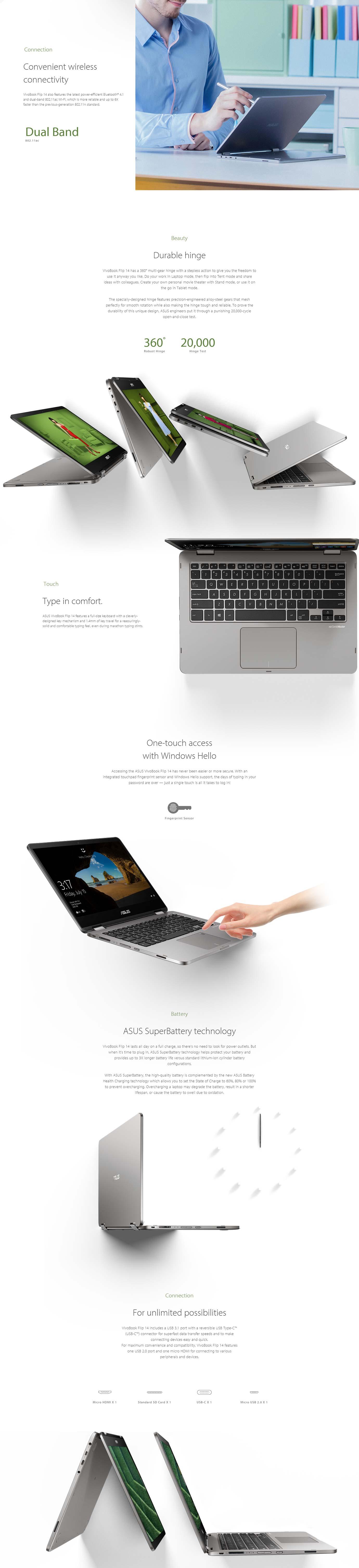 Asus Vivobook Flip TP401MA-BZ235R Laptop