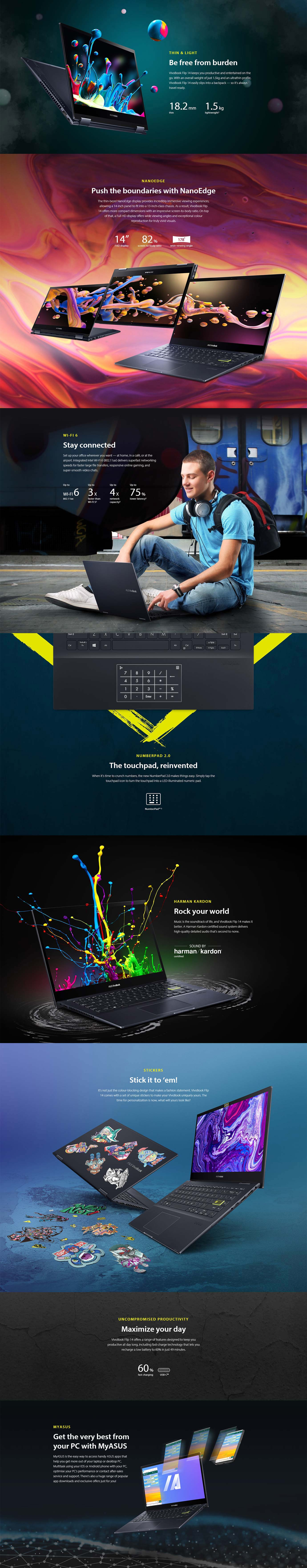 Asus VivoBook Flip 14 TM420 Laptop