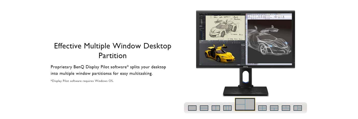 Effective Multiple Window Desktop Partition