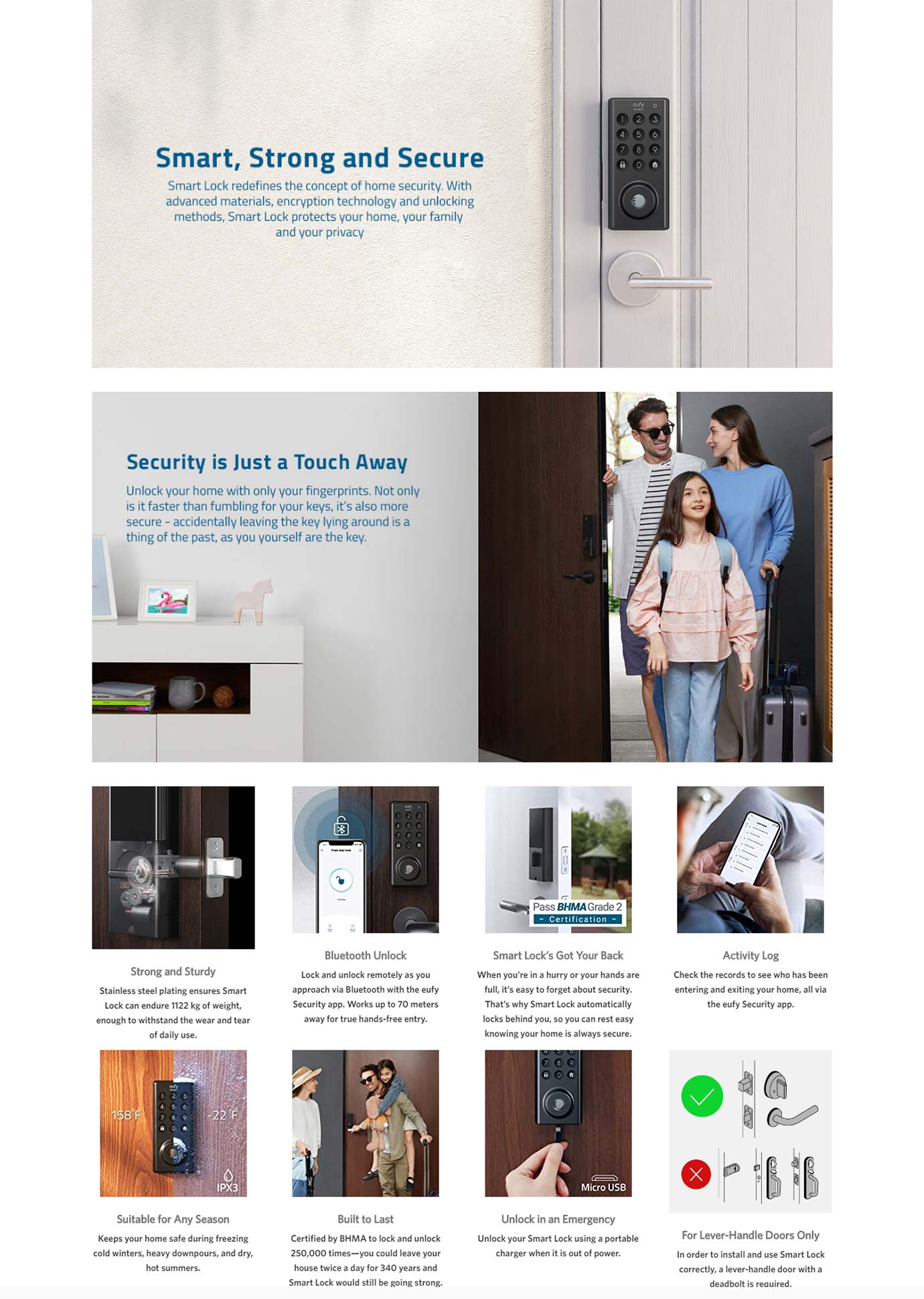 Eufy Smart Lock with Fingerprint Touch Entry - T8500T11