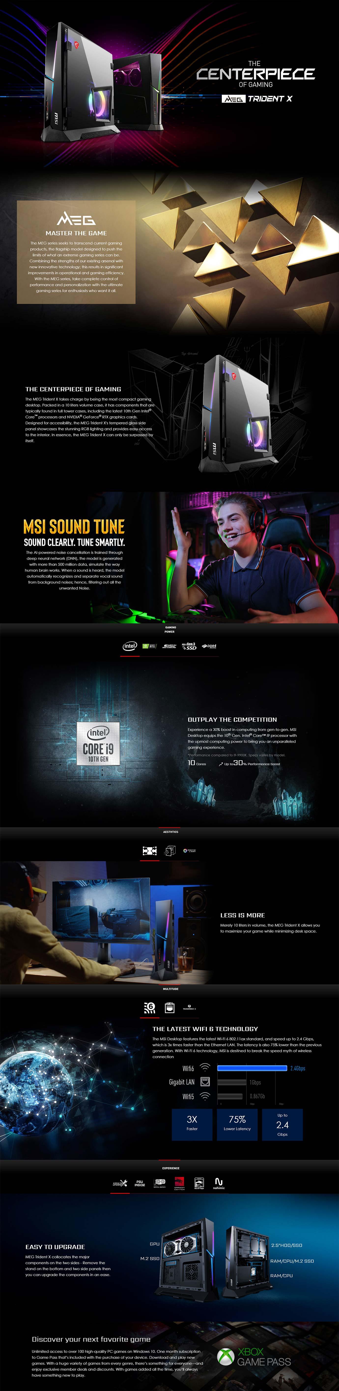 MSI MEG Trident X 10T Desktop