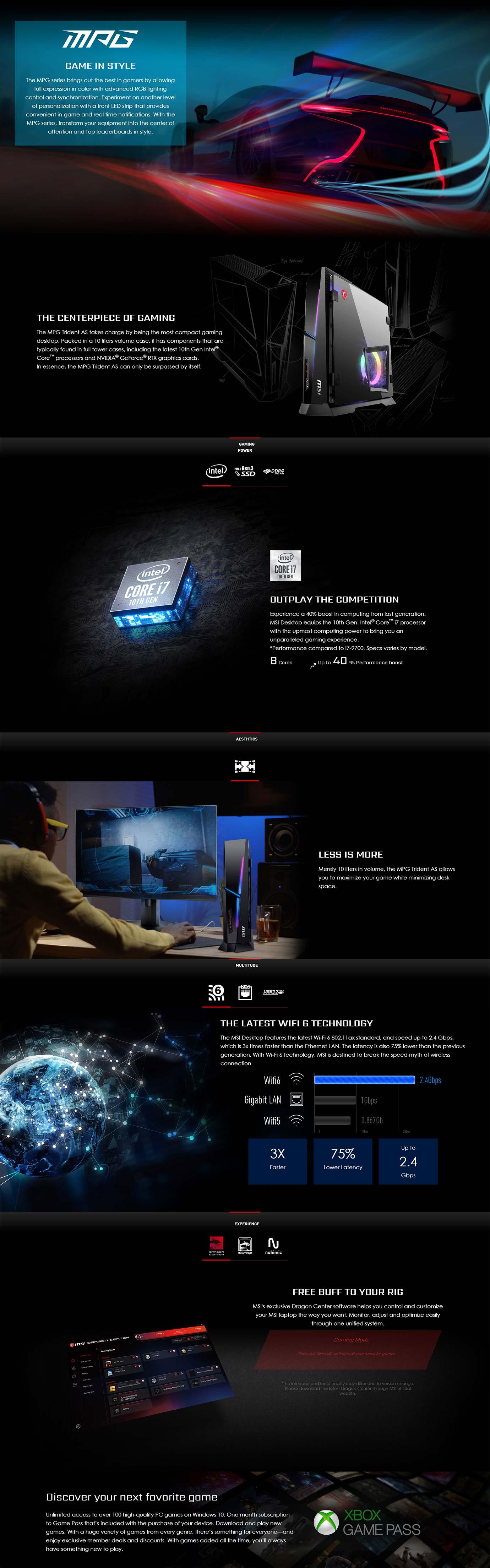 MSI MPG Trident AS 10T Desktop