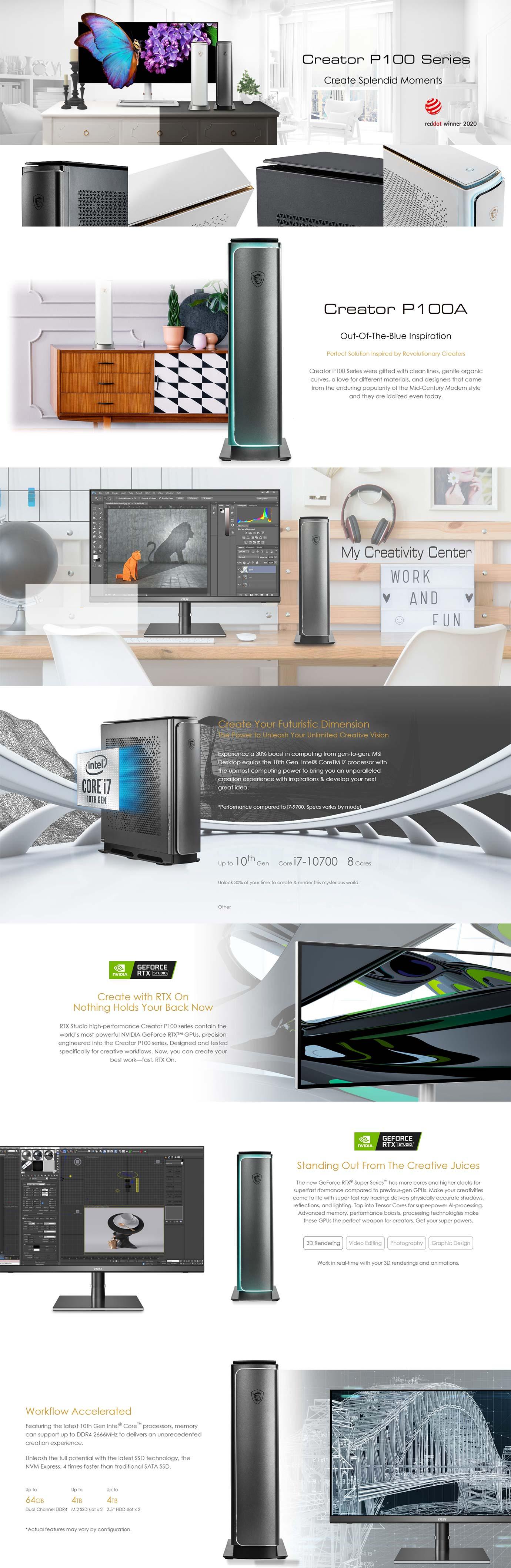 MSI Creator P100A 10T Desktop