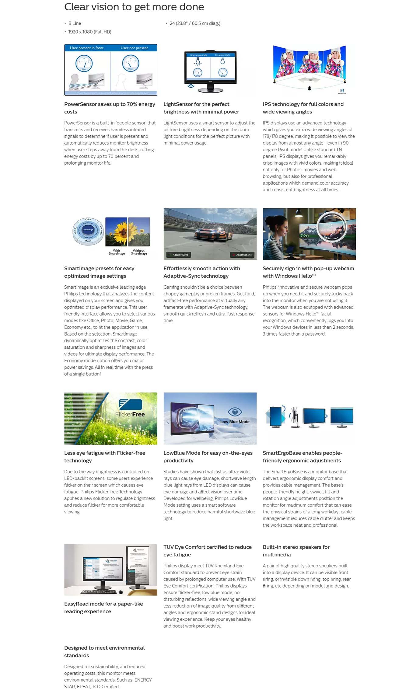 Philips LCD 242B1H Monitor
