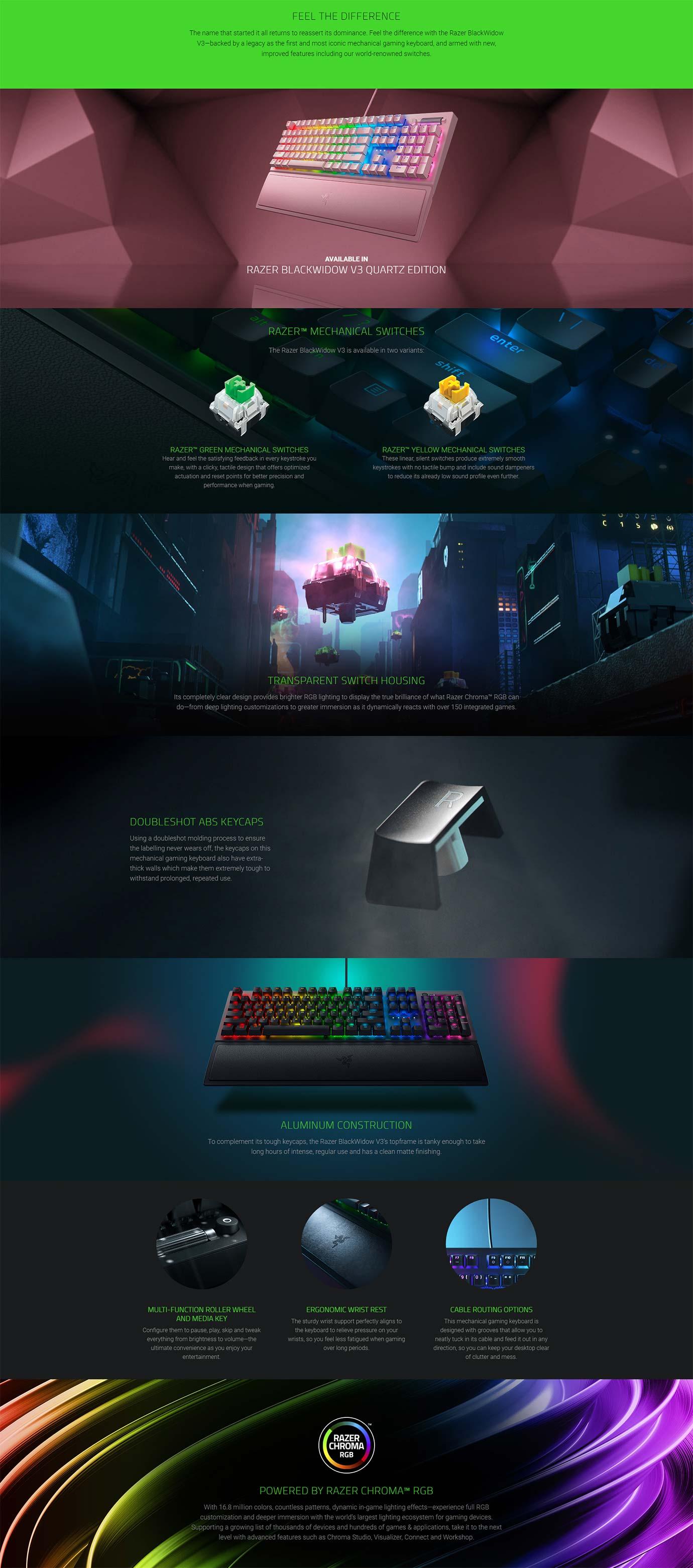 Razer BlackWidow V3 - Mechanical Gaming Keyboard