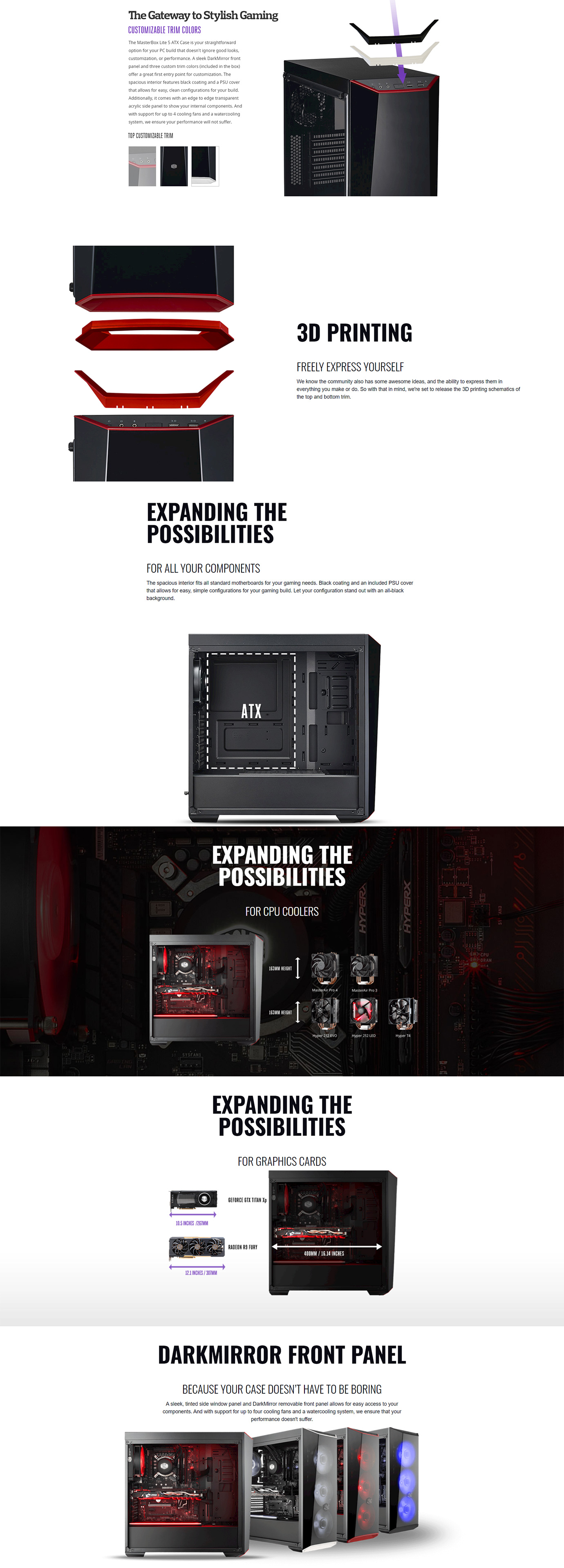 Cooler Master MasterBox Lite 5 Mid Tower Case