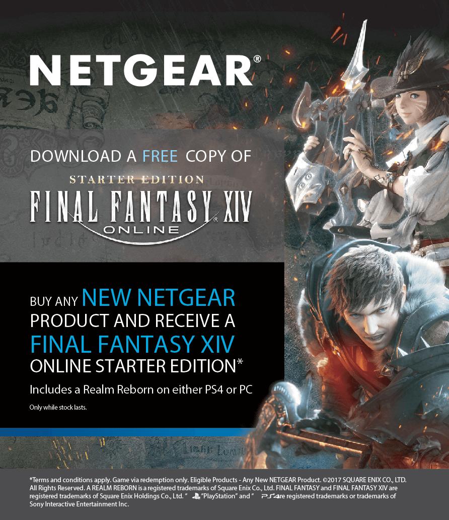 Netgear Final Fantasy Promo