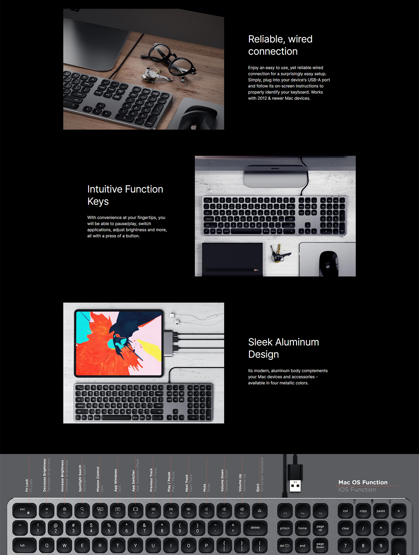 Satechi Wired Keyboard for Mac