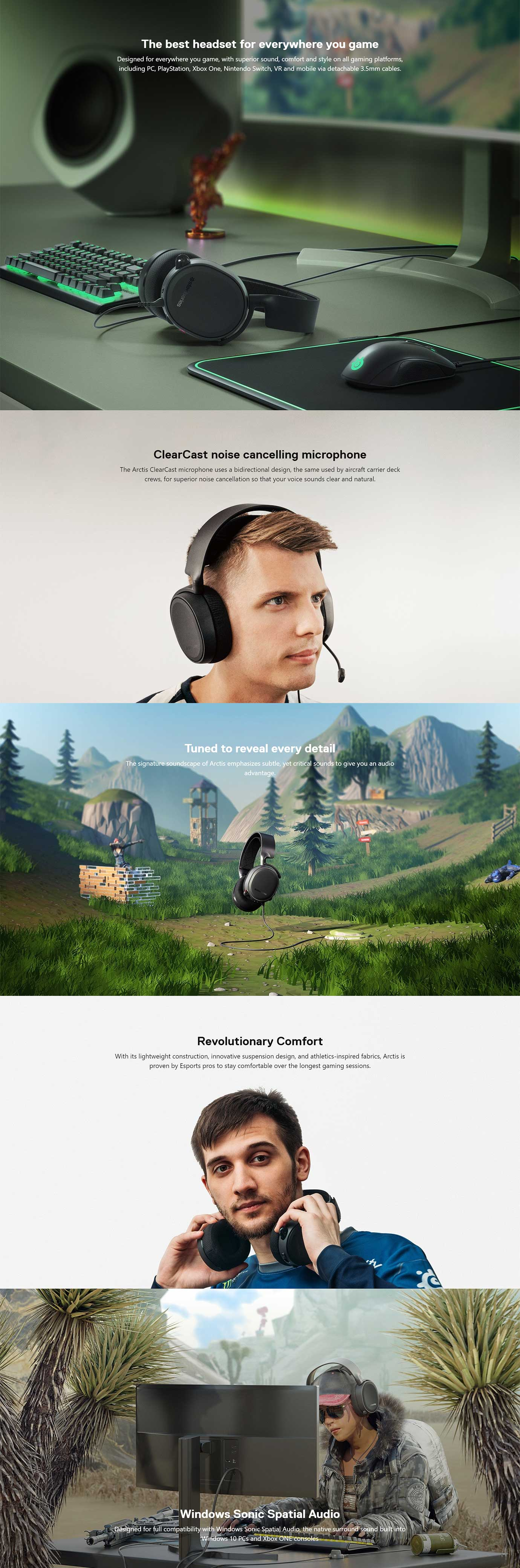 SteelSeries Arctis 3 7.1 Gaming Headset 2019 Edition Refresh