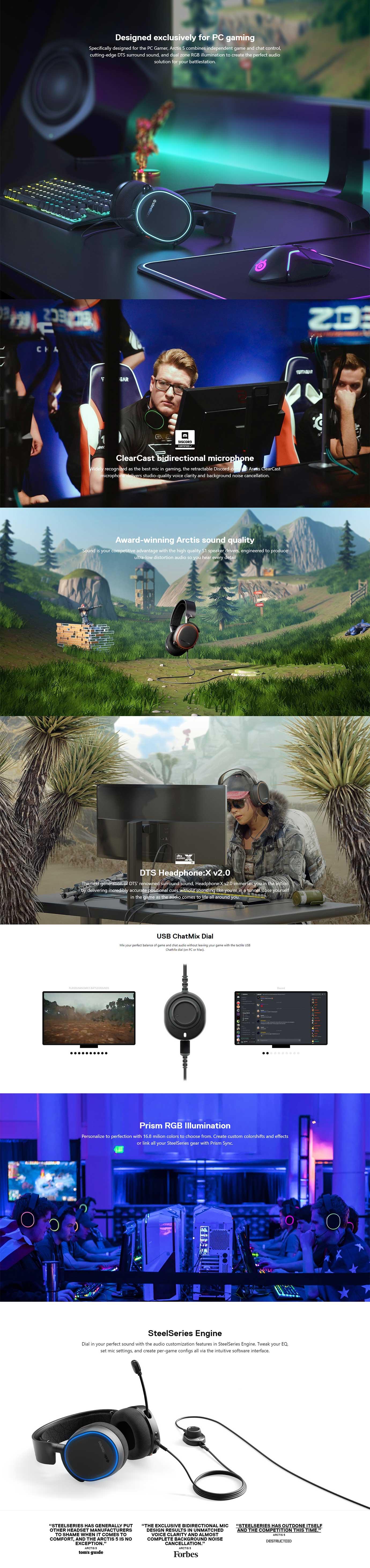 SteelSeries Arctis 5 RGB 7.1 Gaming Headset