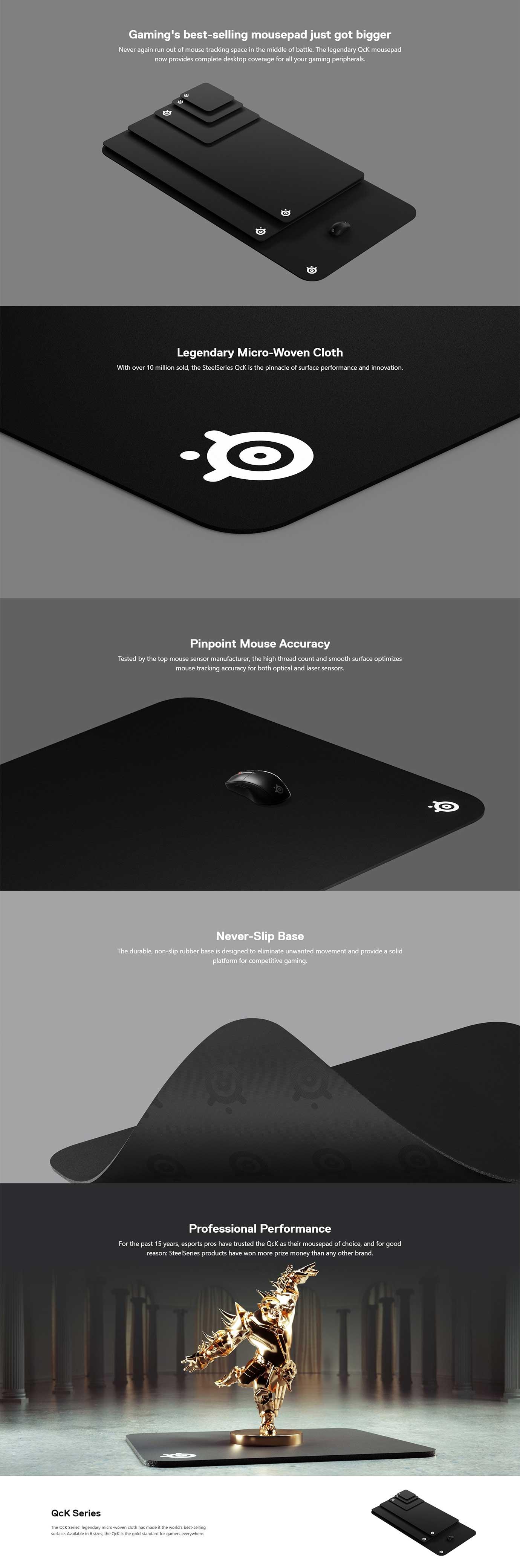 SteelSeries QCK Gaming Mousepad