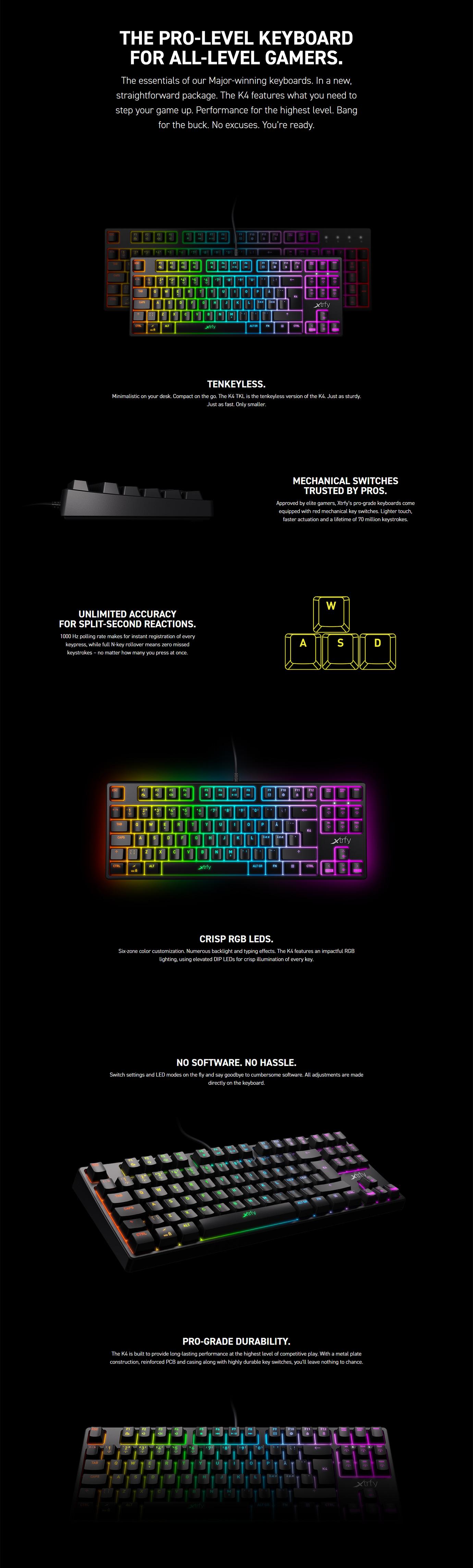 Xtrfy K4 RGB TKL Mechanical Gaming Keyboard