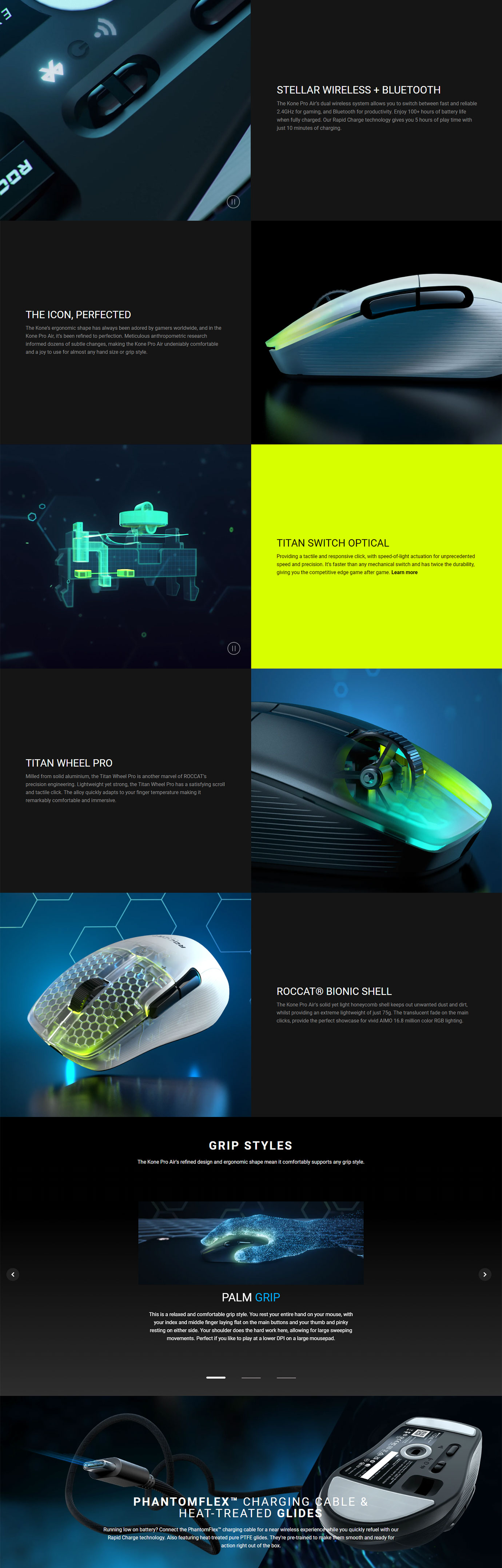 Kone Pro Air Wireless Lightweight Gaming Mouse